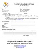 Adhésion ACCF 2018